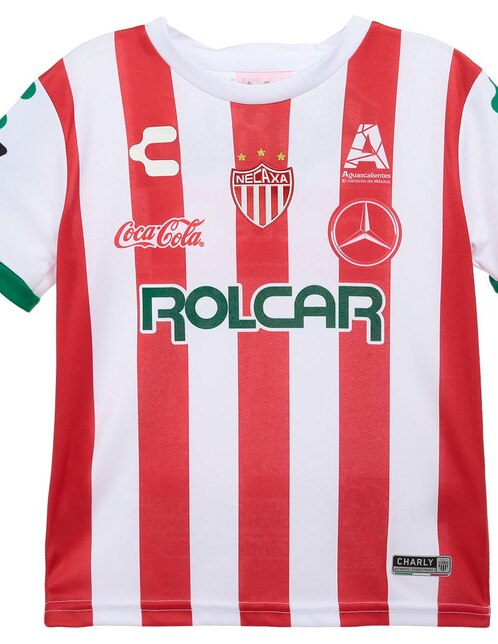 Jersey Charly Club Necaxa Réplica Local para niño 7b13961f110d1